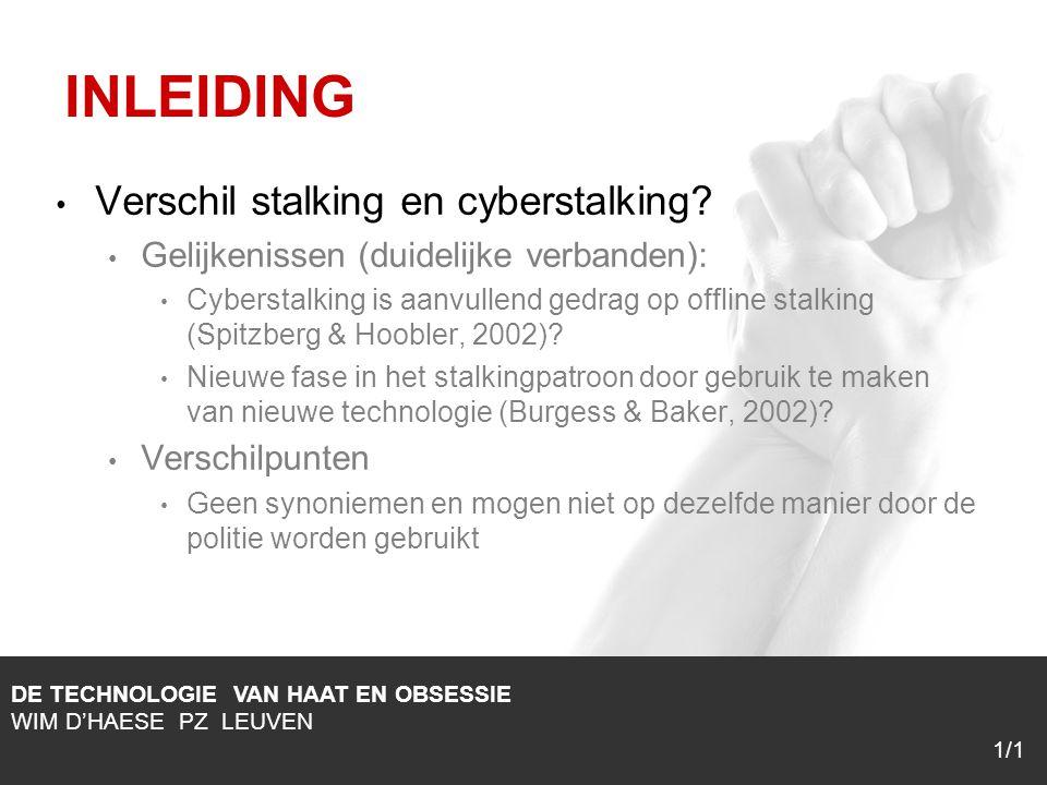 1/1 Verschil stalking en cyberstalking.