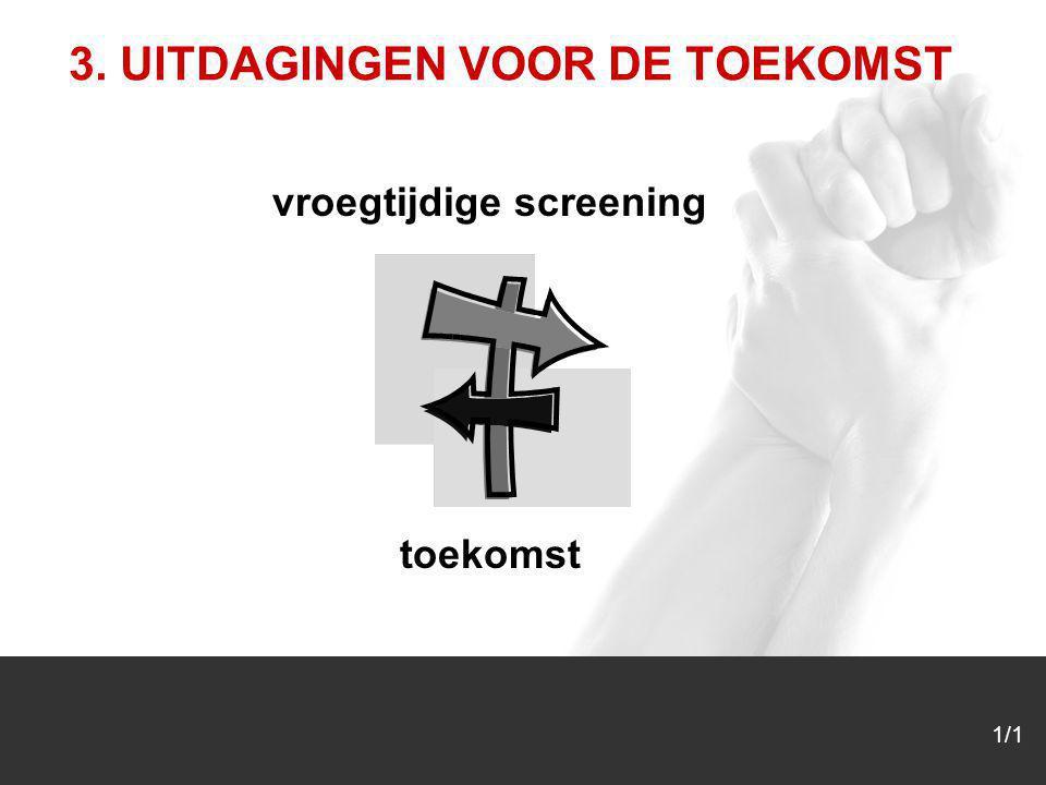 1/1 3. UITDAGINGEN VOOR DE TOEKOMST vroegtijdige screening toekomst