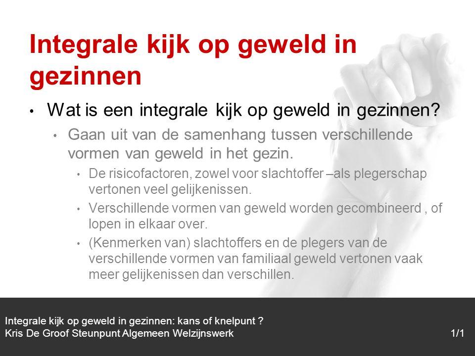 1/1 Wat is een integrale kijk op geweld in gezinnen.