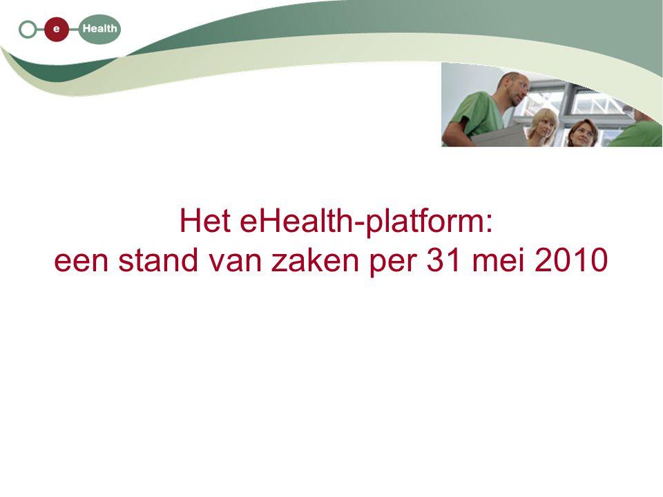 Het eHealth-platform: een stand van zaken per 31 mei 2010