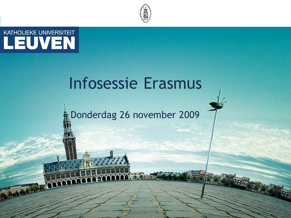 Infosessie Erasmus Donderdag 26 november 2009