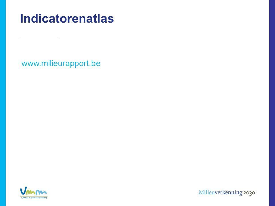 www.milieurapport.be Indicatorenatlas