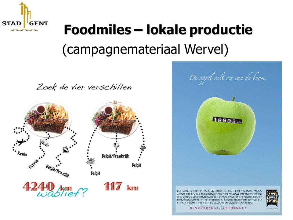 Foodmiles – lokale productie Foodmiles – lokale productie (campagnemateriaal Wervel)