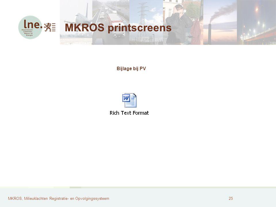 MKROS, Milieuklachten Registratie- en Opvolgingssysteem26 MKROS printscreens