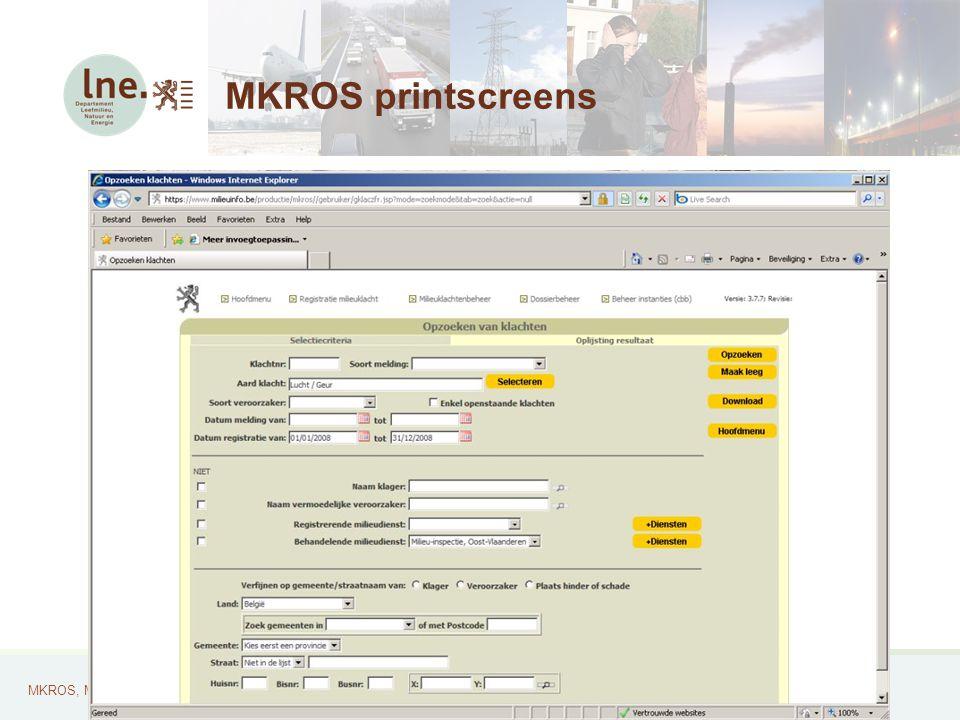MKROS, Milieuklachten Registratie- en Opvolgingssysteem29 MKROS printscreens