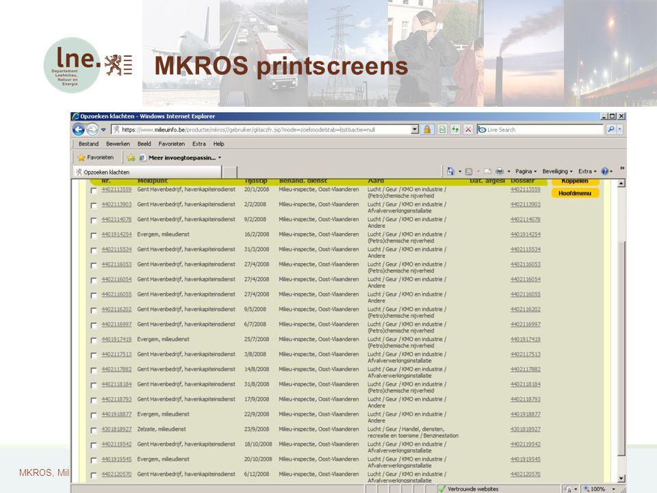 MKROS, Milieuklachten Registratie- en Opvolgingssysteem30 MKROS printscreens