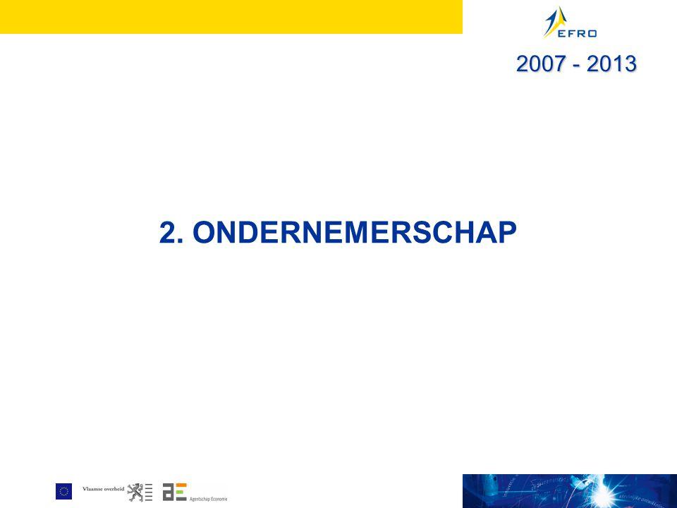 2. ONDERNEMERSCHAP 2007 - 2013