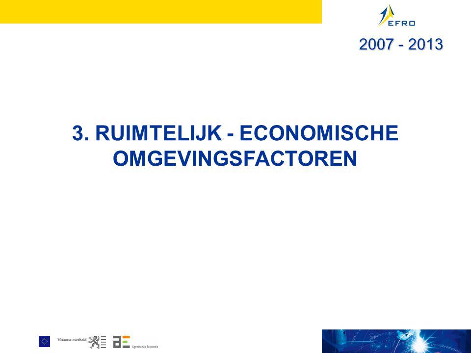 3. RUIMTELIJK - ECONOMISCHE OMGEVINGSFACTOREN 2007 - 2013