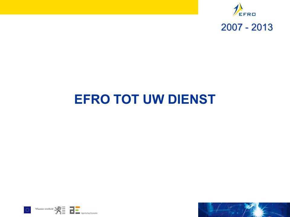 EFRO TOT UW DIENST 2007 - 2013