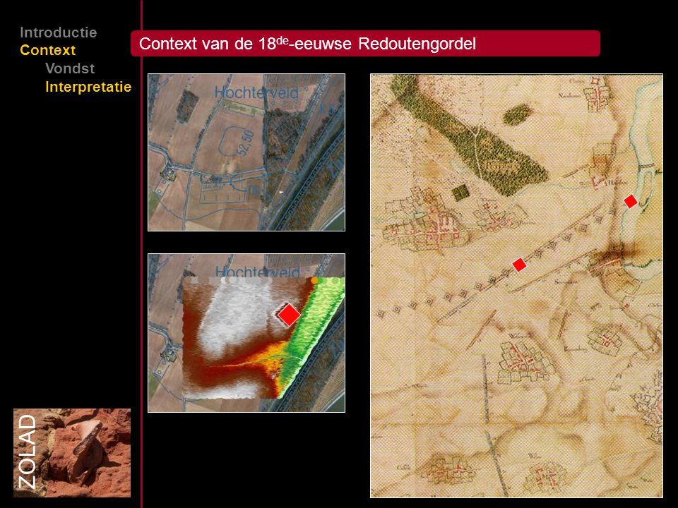 Context van de 18 de -eeuwse Redoutengordel ZOLAD Introductie Context Vondst Interpretatie