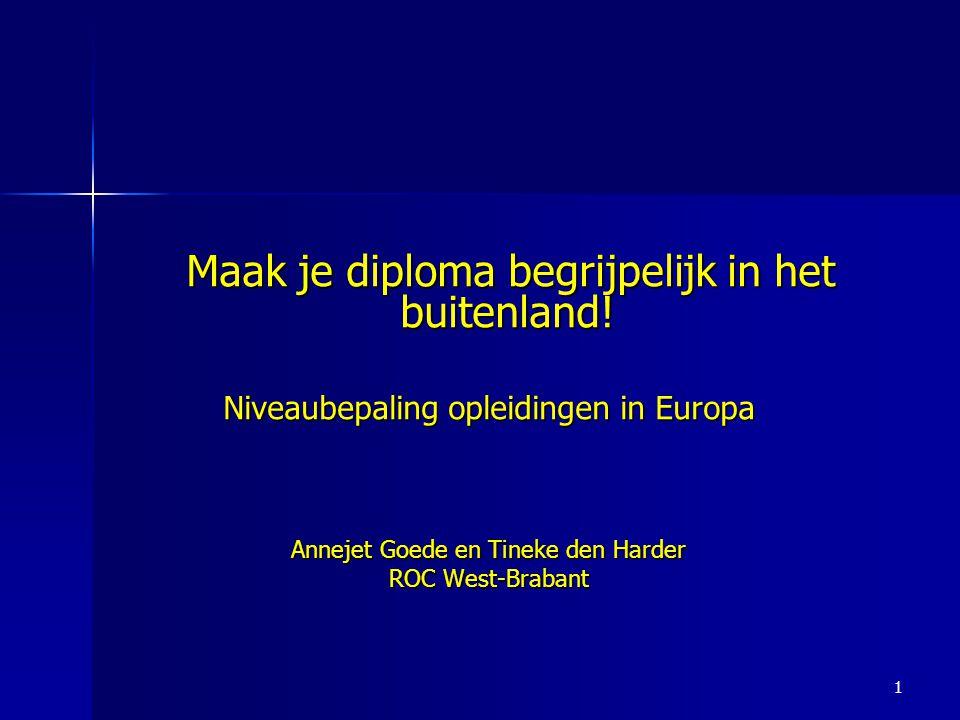 1 Maak je diploma begrijpelijk in het buitenland.Maak je diploma begrijpelijk in het buitenland.