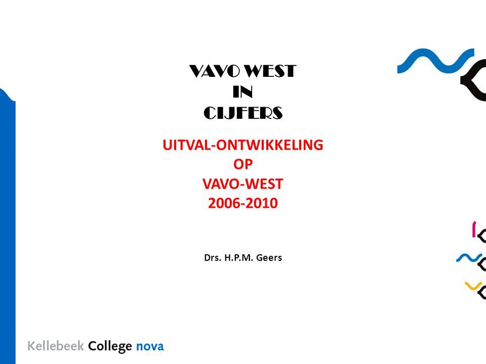 VAVO WEST IN CIJFERS UITVAL-ONTWIKKELING OP VAVO-WEST 2006-2010 Drs. H.P.M. Geers