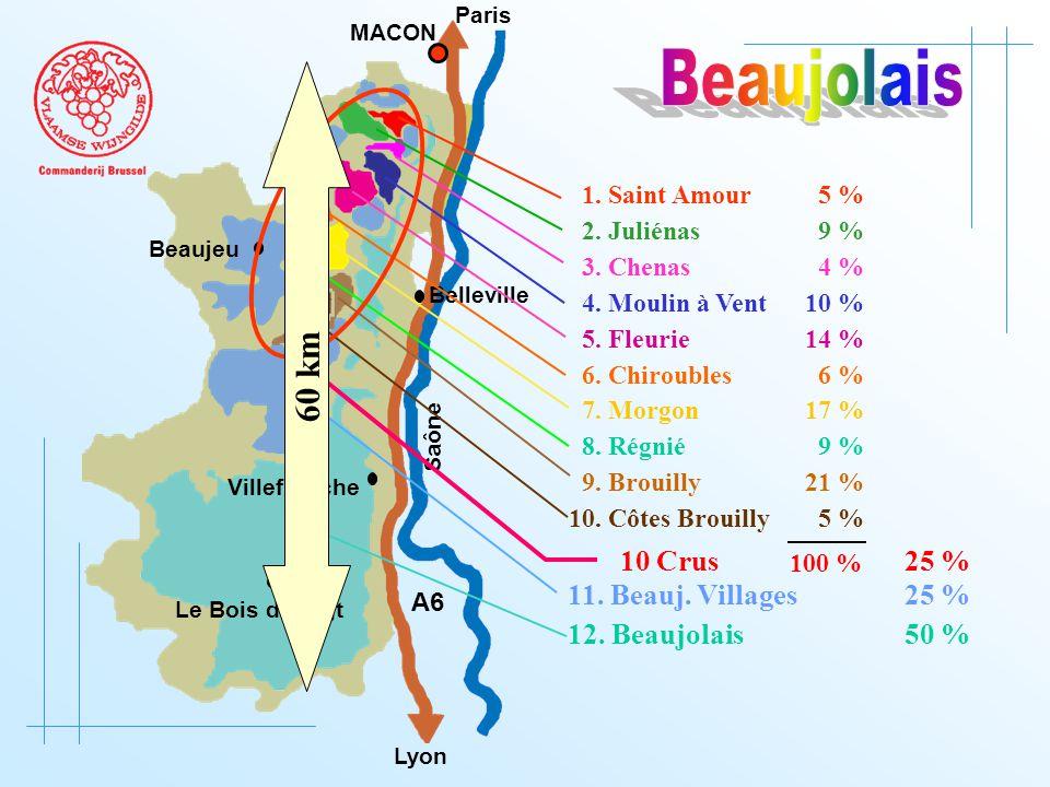 12. Beaujolais 50 % A6 Paris Lyon Saône MACON Belleville Le Bois d'oingt Villefranche 11.