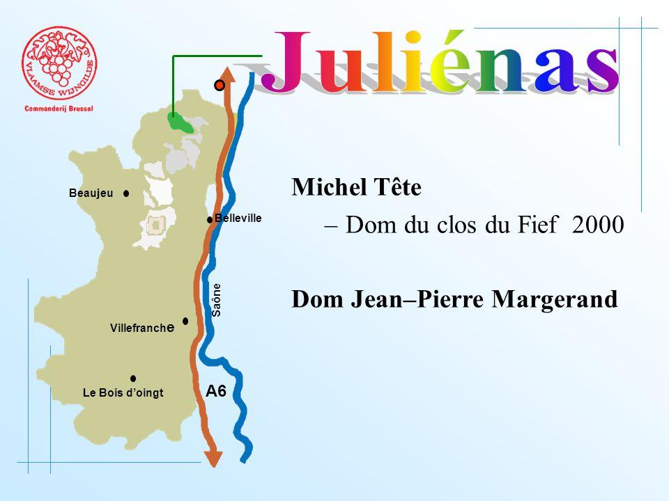 A6 Saône Belleville Le Bois d'oingt Villefranch e Beaujeu Michel Tête –Dom du clos du Fief 2000 Dom Jean–Pierre Margerand