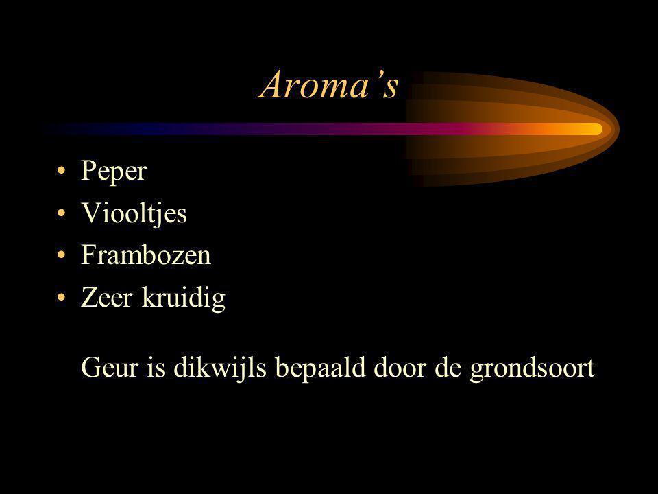 Aroma's Peper Viooltjes Frambozen Zeer kruidig Geur is dikwijls bepaald door de grondsoort