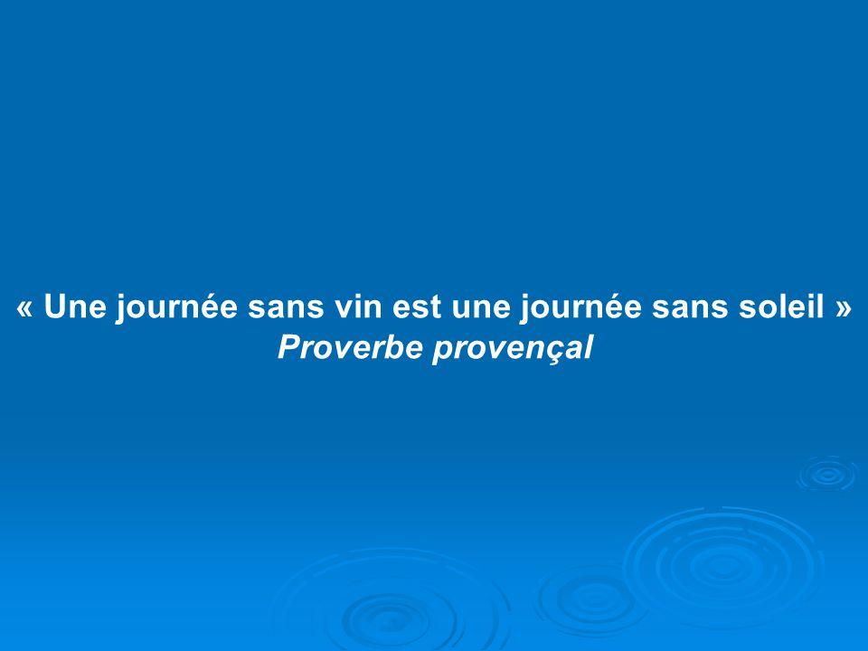 « Une journée sans vin est une journée sans soleil » Proverbe provençal