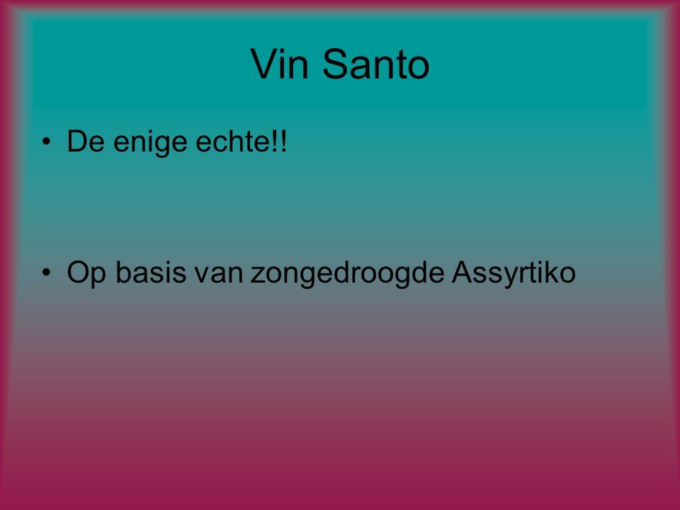 Vin Santo De enige echte!! Op basis van zongedroogde Assyrtiko