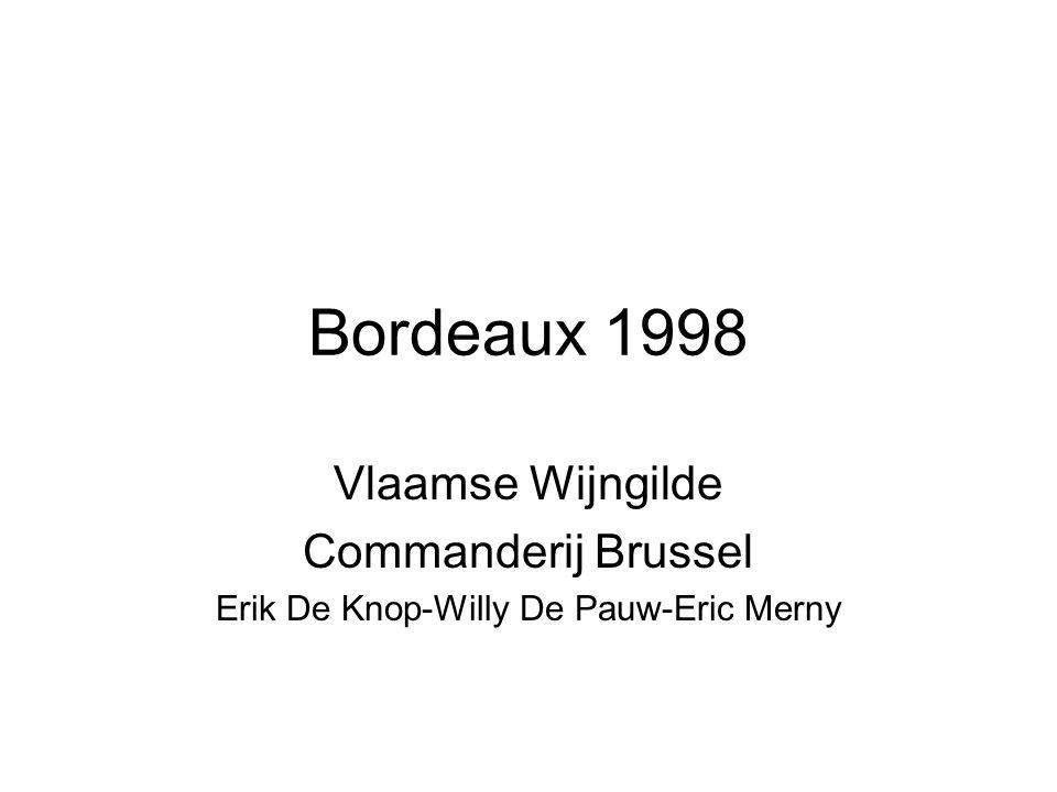 Bordeaux 1998 Vlaamse Wijngilde Commanderij Brussel Erik De Knop-Willy De Pauw-Eric Merny