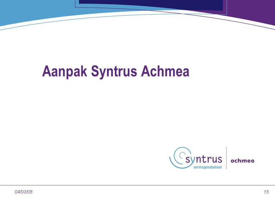 1504/03/08 Aanpak Syntrus Achmea