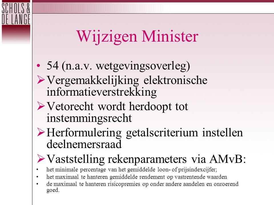 Wijzigen Minister 54 (n.a.v.