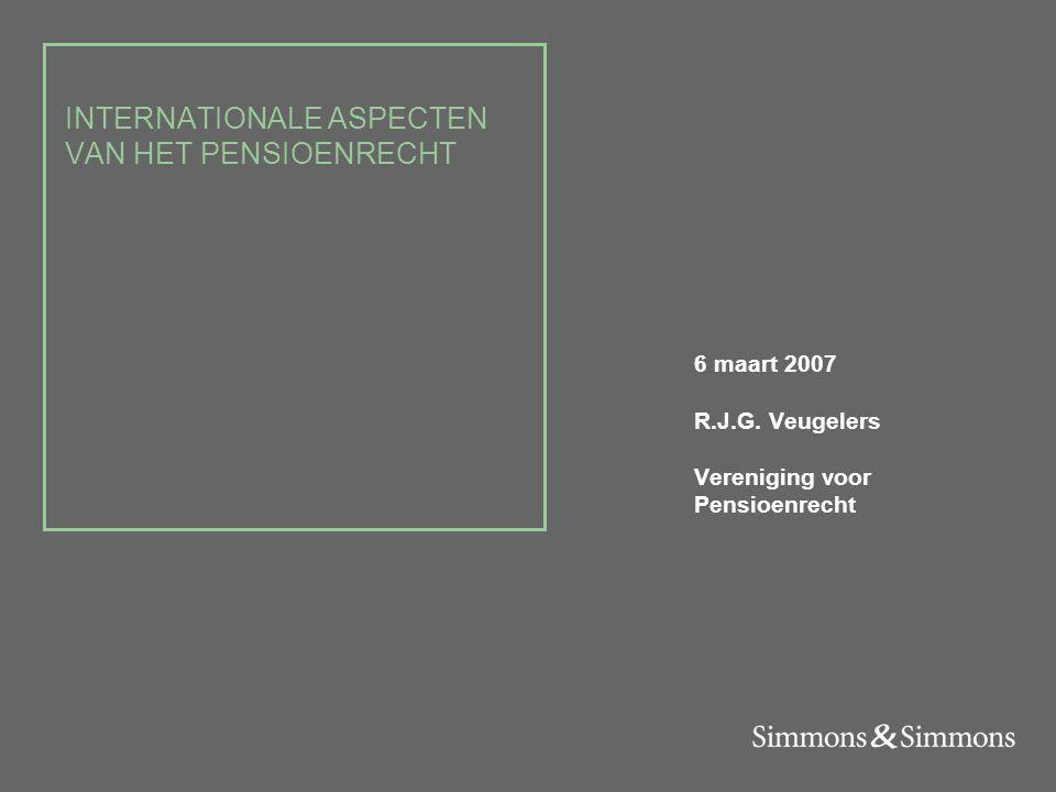 2 / LiveLink number Drie onderwerpen 1.De Pensioenfondsenrichtlijn 2.De Portability richtlijn 3.De algemene pensioeninstelling