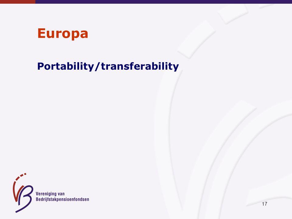 17 Europa Portability/transferability