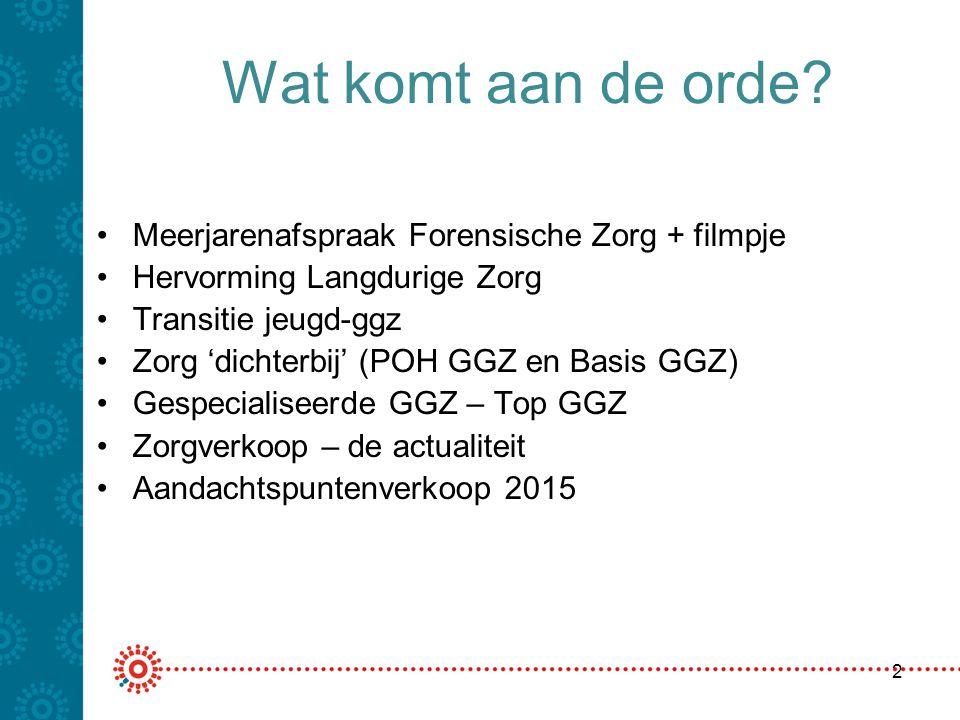 POH GGZ beleidslijn + bedrijfsvoering Instroom in bGGZ en gGGZ verandert door de verruiming van POH GGZ uren per huisartsen-normpraktijk Eerst POH GGZ bij beginnende klachten Vormvrij, maar wel onder regie van de huisarts, ook de geïndiceerde preventie Zie regelgeving op www.nza.nlwww.nza.nl 13