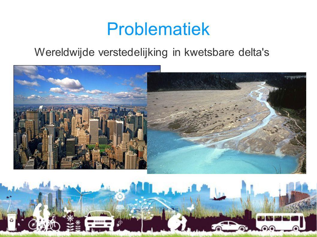 Problematiek Wereldwijde verstedelijking in kwetsbare delta's