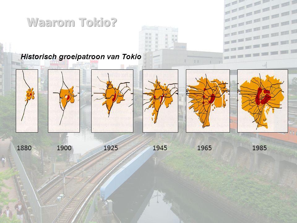 Waarom Tokio 3 198518801900194519251965 Historisch groeipatroon van Tokio