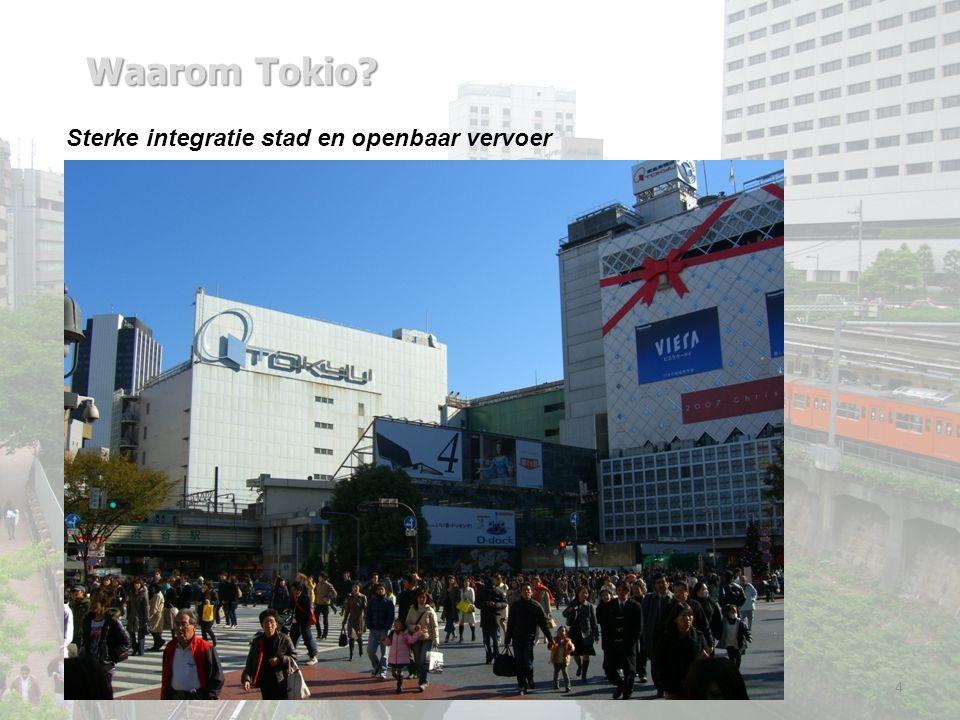 Waarom Tokio 4 Sterke integratie stad en openbaar vervoer