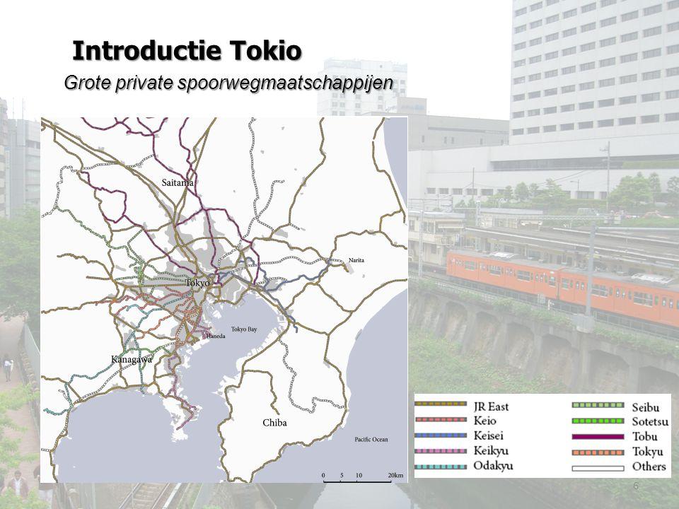 Grote private spoorwegmaatschappijen 6 Introductie Tokio