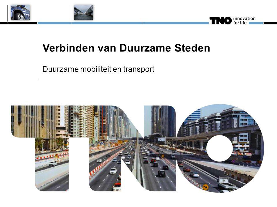 Verbinden van Duurzame Steden Duurzame mobiliteit en transport