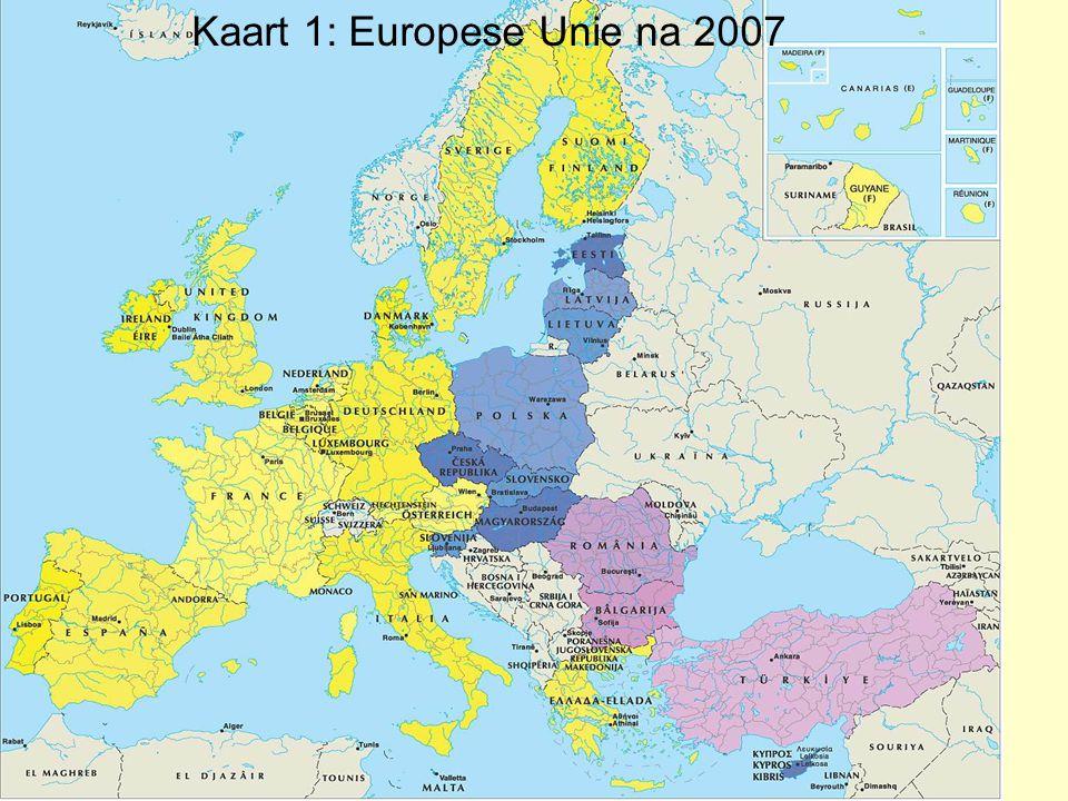 Kaart 1: Europese Unie na 2007