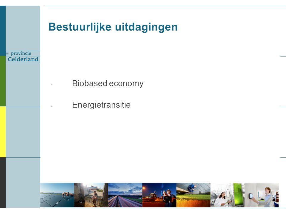 Biobased economy Energietransitie Bestuurlijke uitdagingen 5