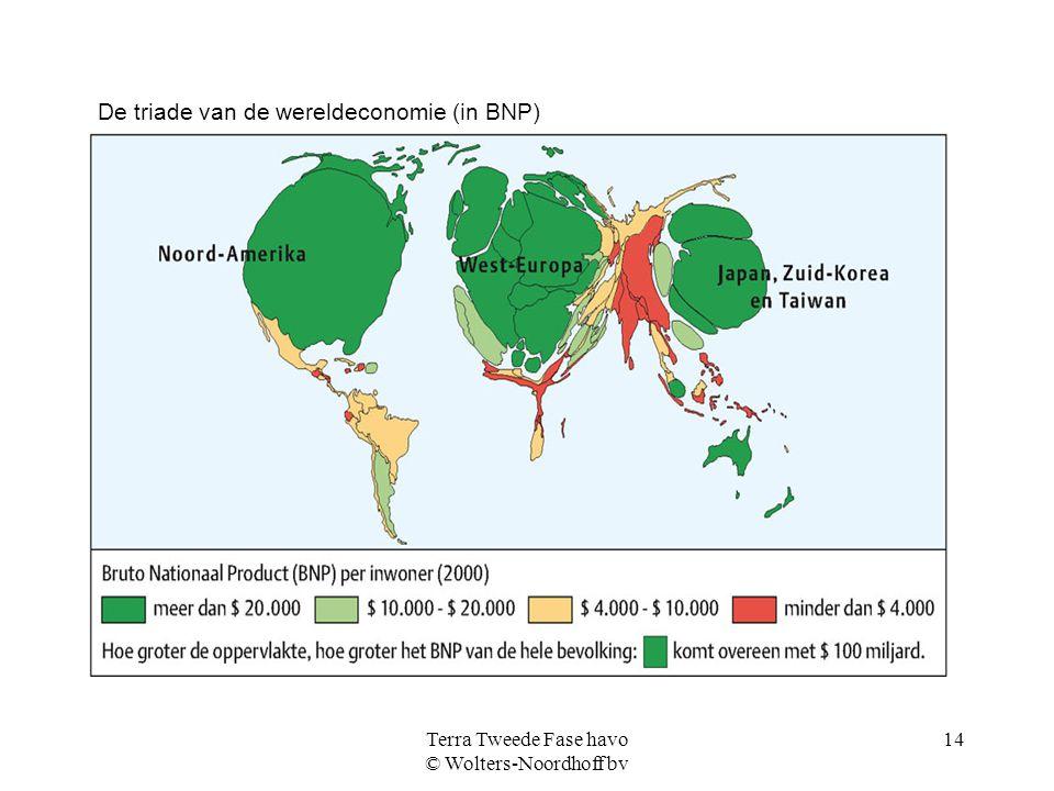 Terra Tweede Fase havo © Wolters-Noordhoff bv 14 De triade van de wereldeconomie (in BNP)