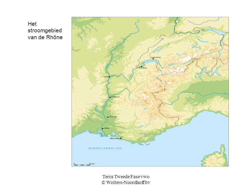 Terra Tweede Fase vwo © Wolters-Noordhoff bv Het stroomgebied van de Rhône
