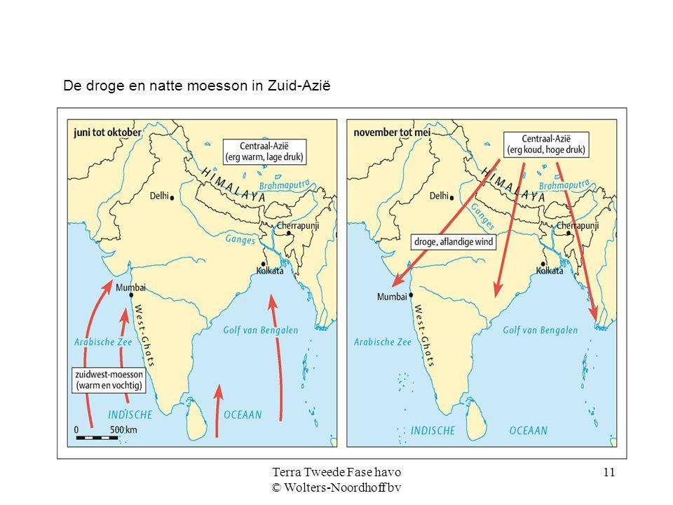 Terra Tweede Fase havo © Wolters-Noordhoff bv 11 De droge en natte moesson in Zuid-Azië