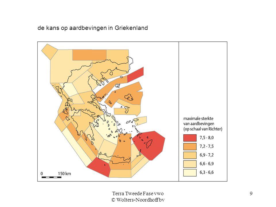 Terra Tweede Fase vwo © Wolters-Noordhoff bv 9 de kans op aardbevingen in Griekenland