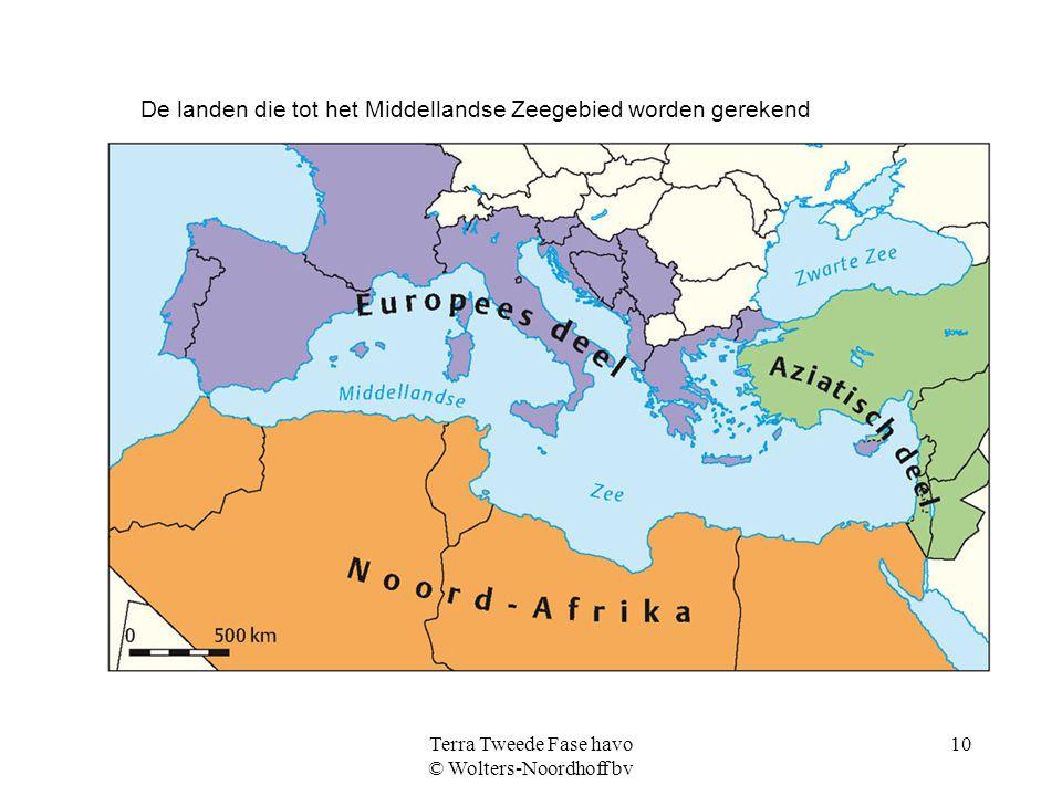Terra Tweede Fase havo © Wolters-Noordhoff bv 10 De landen die tot het Middellandse Zeegebied worden gerekend