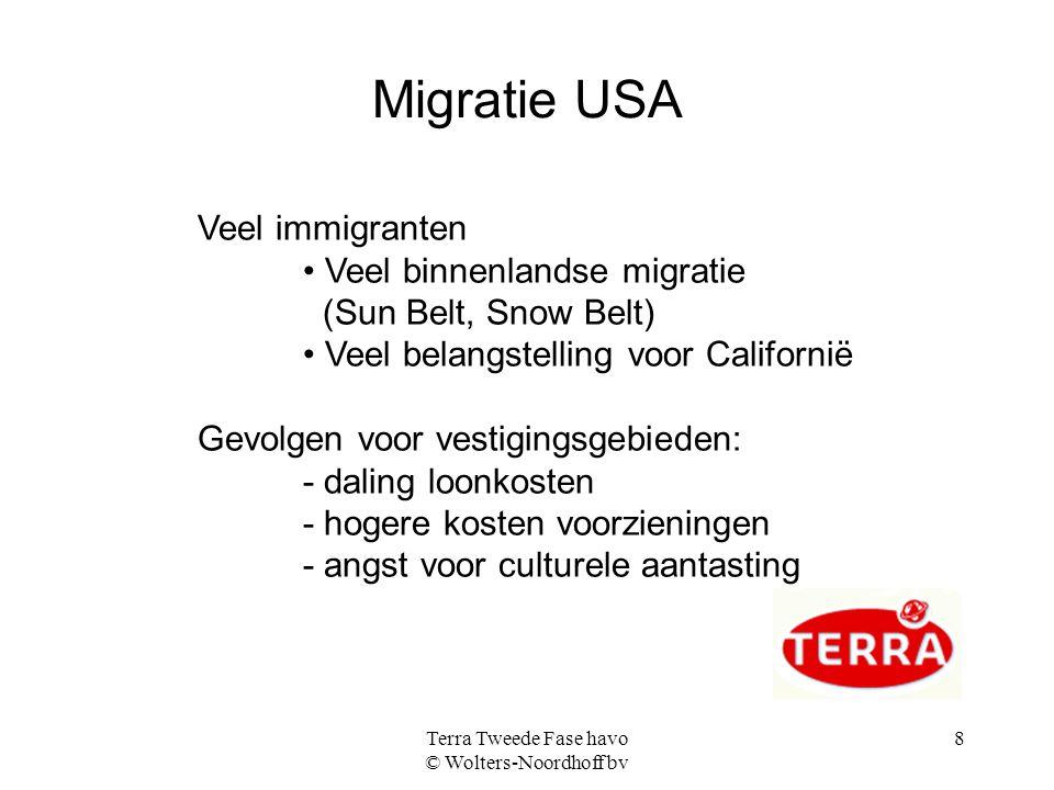 Terra Tweede Fase havo © Wolters-Noordhoff bv 9 Hispanics in de VS, naar periode van aankomst en nationalisatie