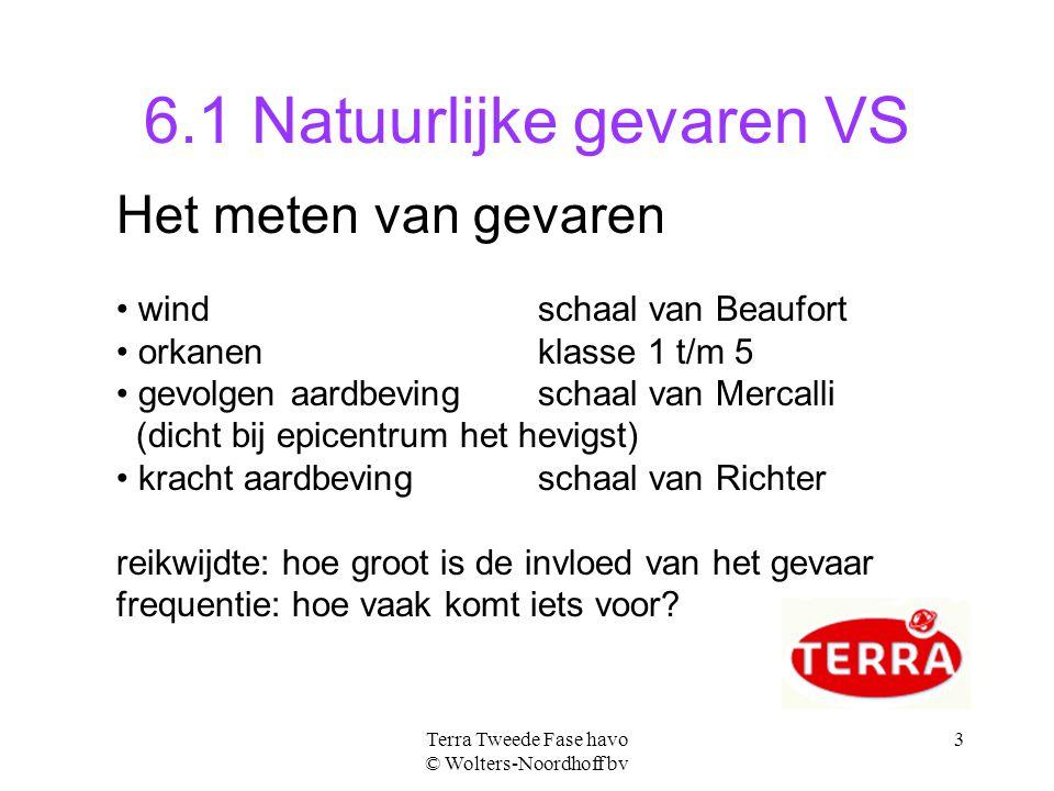 Terra Tweede Fase havo © Wolters-Noordhoff bv 4 gevaren per regio