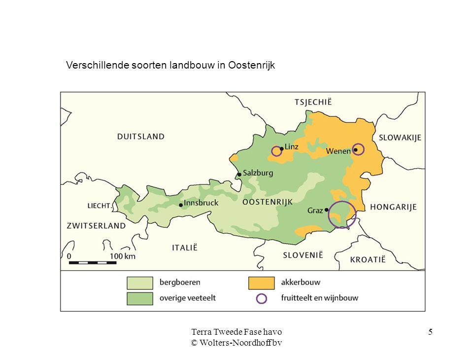 Terra Tweede Fase havo © Wolters-Noordhoff bv 5 Verschillende soorten landbouw in Oostenrijk