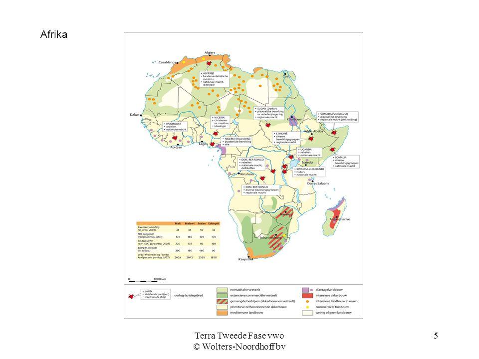 Terra Tweede Fase vwo © Wolters-Noordhoff bv 5 Afrika