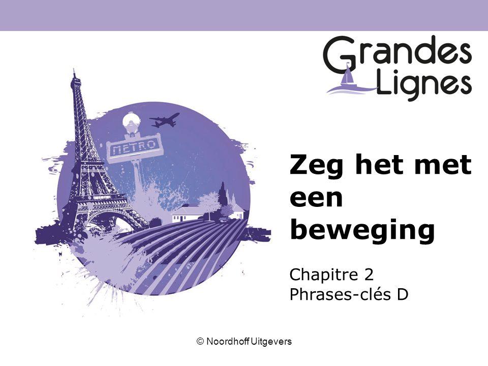 © Noordhoff Uitgevers Zeg het met een beweging Chapitre 2 Phrases-clés D