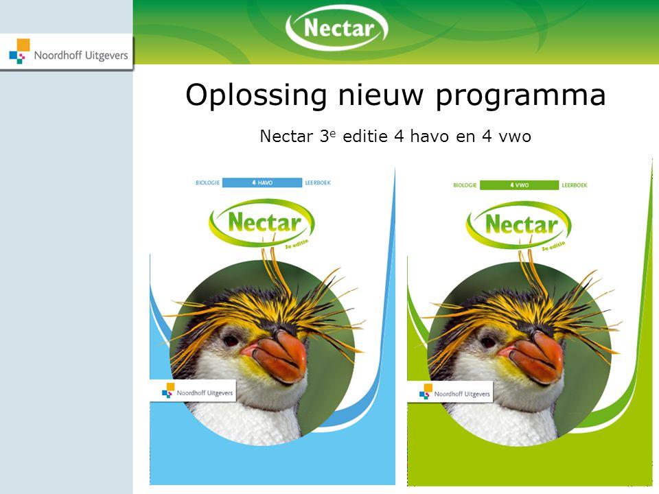 Oplossing nieuw programma Nectar 3 e editie 4 havo en 4 vwo