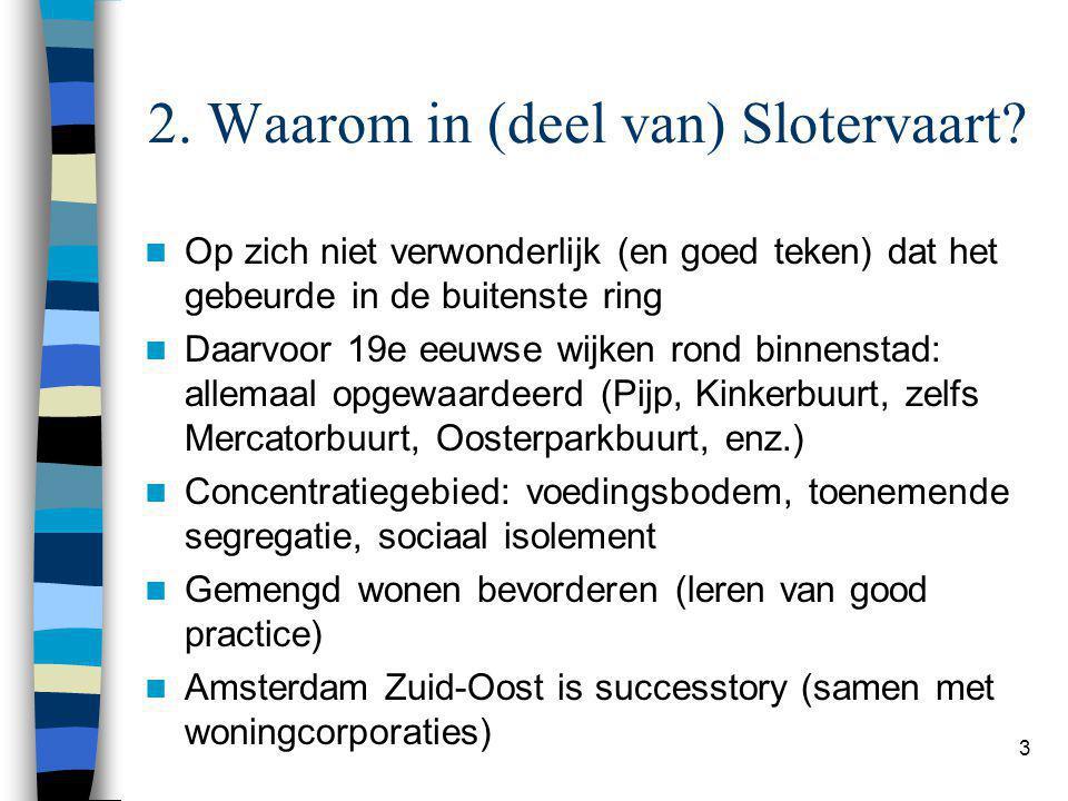3 2. Waarom in (deel van) Slotervaart.
