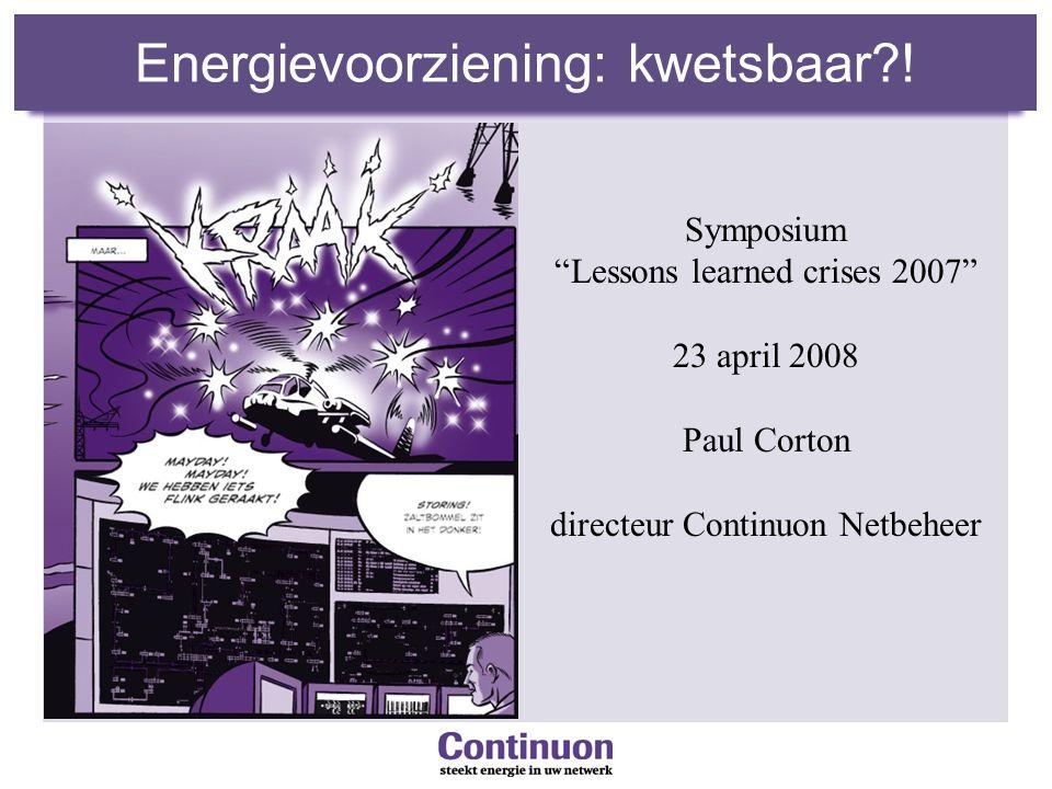 Energievoorziening: kwetsbaar?.
