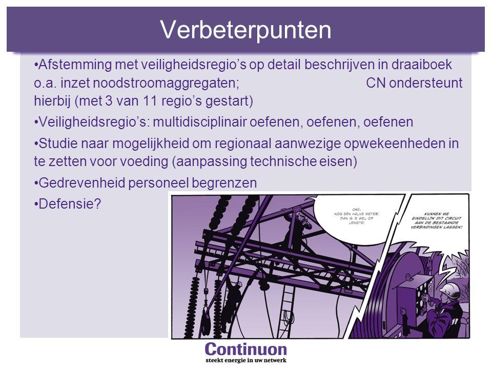 Verbeterpunten Afstemming met veiligheidsregio's op detail beschrijven in draaiboek o.a.
