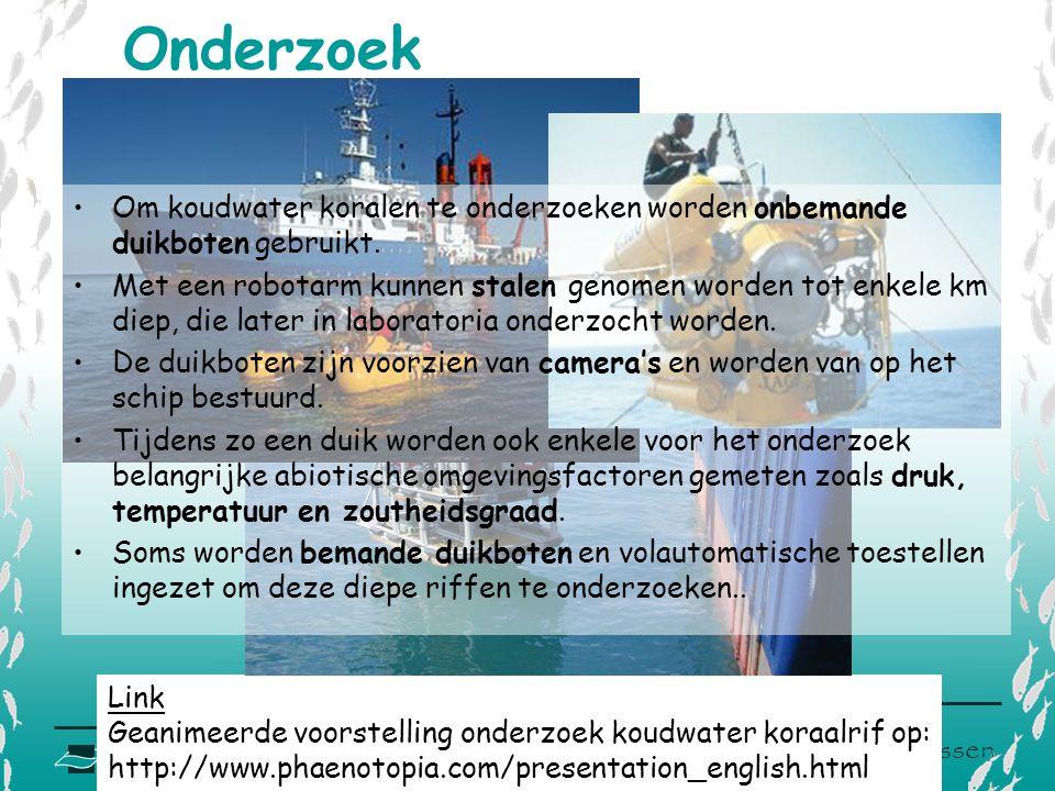 V L I Z www.vliz.be/educatie Zeelessen Onderzoek Link Geanimeerde voorstelling onderzoek koudwater koraalrif op: http://www.phaenotopia.com/presentati