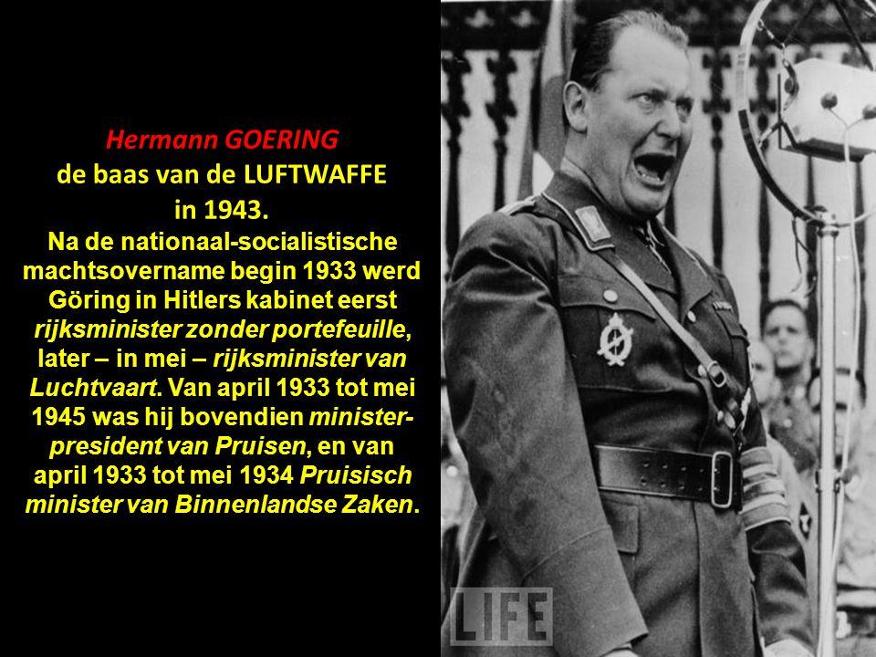 Heinrich HIMMLER de meedogenloze Rijksleider SS in 1930. Hoofd van de Gestapo en de Waffen-SS, minister van Binnenlandse Zaken van 1943 tot 1945 en or
